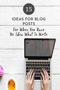15 IDEA FOR BLOG POST