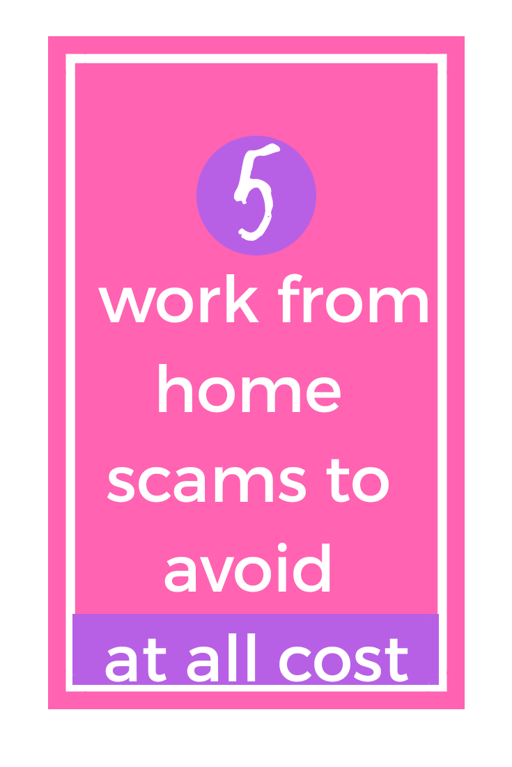 5 work from home scam to avoid at all cost