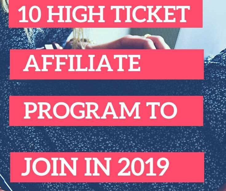 10 high ticket affiliate programs