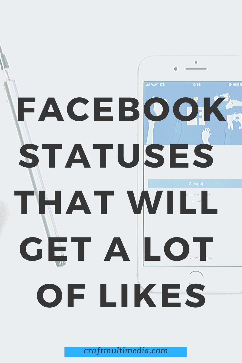 Posting the right statuses on your Facebook account can give you more likes and comments but how do you know the right Facebook statuses that will get a lot of likes is the question on everybody lips.