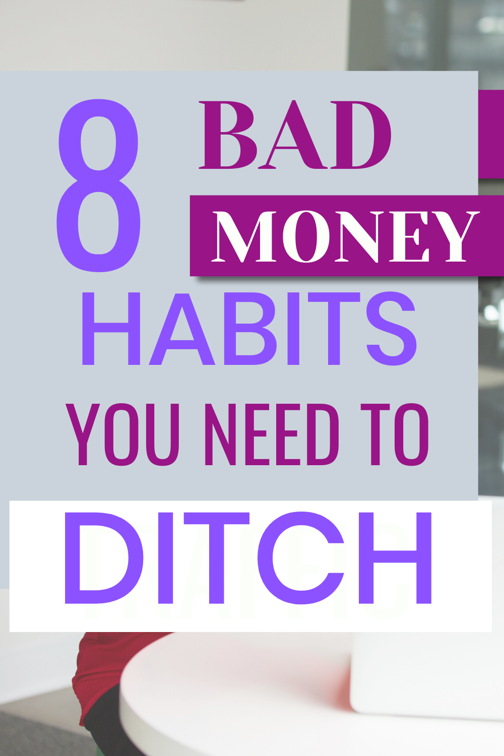 If you are tired of being broke in 2020, you need to stop bad money habits that you are used to. Bad money habits are part of our day to day activities that you need to ditch if you want to become financially dependent in 2020. If your goal in 2020 is to save more money, then you are in luck as we are going to look at 8 bad money habits that you need to ditch in 2020. Many people find it hard to save money, and if you are part of this group, you need to start practicing how to save money every month. 8 BAD MONEY HABITS THAT YOU NEED TO DITCH IN 2020 There are proven ways that you can employ to stop living from one paycheck to another paycheck.  1.	Lack of Budgeting Lack of budgeting is the main culprit why many people find it hard to save money every month. This is the very first bad money habit that you need to stop. When you have a budget, you are in control of your finance and can help you to reduce your spending because you know how much you are spending in a month. 2.	Paying your bills late Another bad habit that you need to stop in 2020 is the late payment of the bill. For every day that you delay your bill payment, there is an extra interest that can affect your finances very badly. Once you write down your monthly budget, you can look at the due date of the bill and pay before the due date.  Another way of avoiding late payment or extra payment of the bill is for you to register for their auto-payment plan.  3.	Not buying when there is a promo  If you are seriously considering reducing your monthly running cost, then you need to start planning ahead by buying what you need during promo day. You should also be on the lookout for a coupon that you can use to reduce the price. Another tactic for you that you can use to reduce your spending is for you to join your Facebook groups full of people who are looking for coupons. 4.	Paying for subscription and membership that you don't need Take a look at your monthly expenses and you will discover that there are subscription and membership that you are not using but you keep on paying for it every month. 5.	Impulse buying Most people buy things they don't need because they like the product. Buying any things that you like would drain your finance and you need to stop these bad money habits in 2020. 6.	Not having an emergency fund Emergency funds are money you set aside when an emergency arises and you need money badly.  Most people don't have an emergency fund and when an emergency arises, they borrow money which is bad for their finance. If you want to avoid being broke in 2020, you need to set aside some part of your income as an emergency fund. 7.	Relying on credit cards When you rely on credit cards every month for your basic needs, you are simply put a noose around your neck. The money you spent when you use your credit will be higher compare to using your cash. The credit card comes with a high interest rate and affects your ability to save money. 8.	Not making enough money If you dream of financial freedom, you need to make more money than you need. You can save the extra money you make for an emergency fund or investment fund. There are a lot of ways that you can use to make extra money online, this include: Virtual assistant Blogging and vlogging Completing survey and task Teaching the English language online Bad habits are very hard to break, but if you are determined to avoid being broke again, you need to avoid these bad habits and watch as your savings increase.